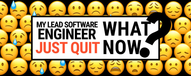 My Lead Software Engineer Just Quit. What Now?