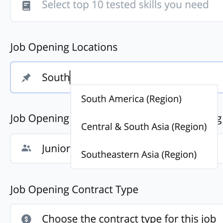 Global Software Talent Sourcing with Multiple Countries and Regions