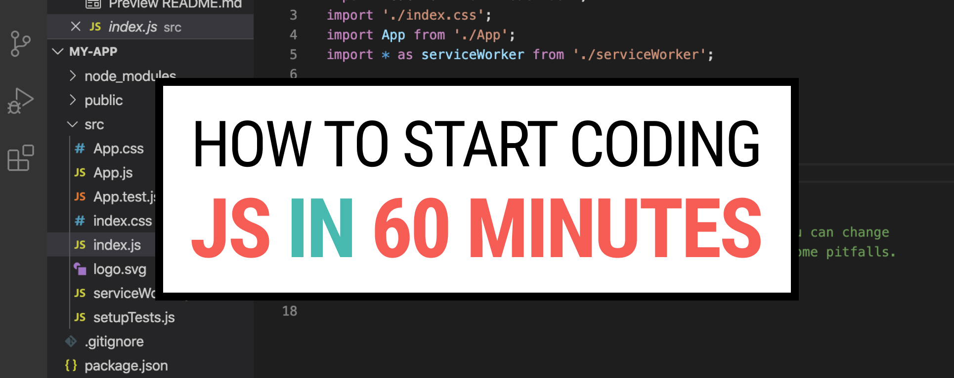 How to start coding JavaScript in 60 minutes