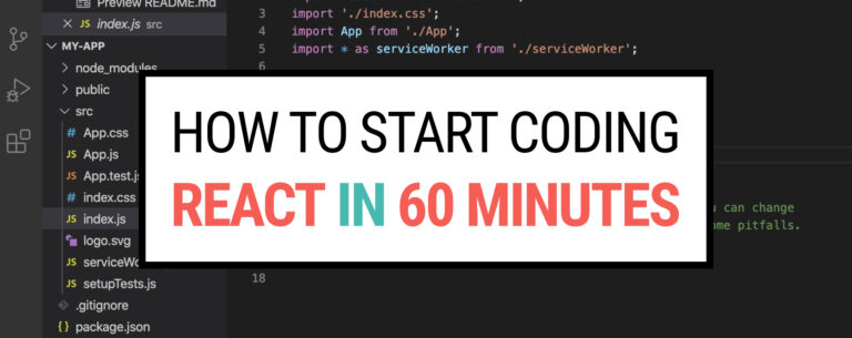 How to start coding React in 60 minutes